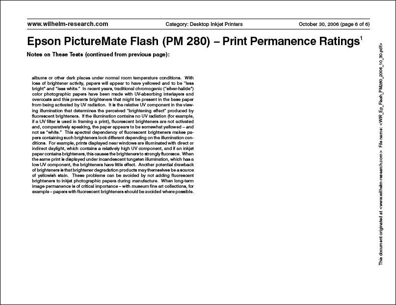WIR Epson PictureMate Flash (PM 280)